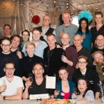 The cast and crew of Farinelli and the King, staring Mark Rylance